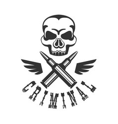 Criminal outlaw street club black and white sign vector