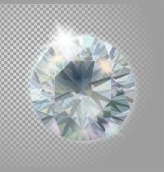 crystal diamond brilliant gem jewelry precious vector image