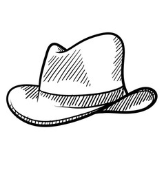 doodle cowboy hat vector image