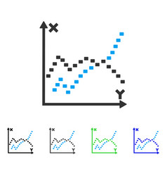 Dotted functions plot flat icon vector
