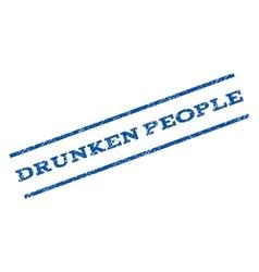 Drunken people watermark stamp vector