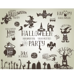 Halloween vintage banners vector image vector image