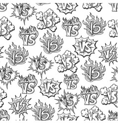 Hand drawn versus seamless pattern vector