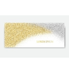 Horizontal gold banners vector