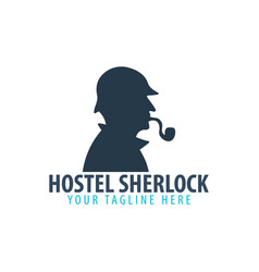 hostel logo hotel logo travel rest place vector image