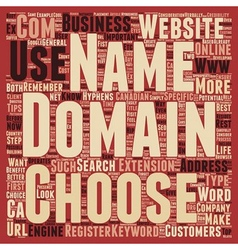 How to choose a domain name for your business text vector