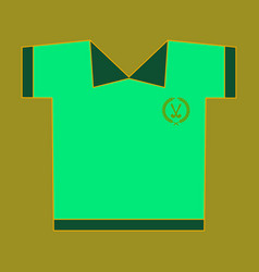 Icon in flat design golf shirt vector
