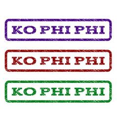ko phi phi watermark stamp vector image vector image