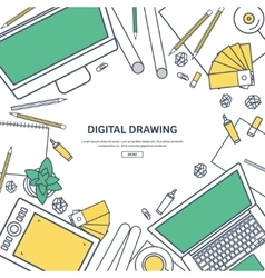 Line artGraphic web design Drawing and painting vector image vector image