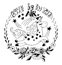 love is in the air logo vector image vector image