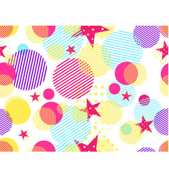 Memphis seamless pattern pop art dotted vector