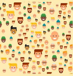 Men head portrait seamless pattern friendship vector