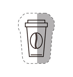 paper coffee cup bean disposable vector image