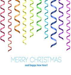 Rainbow serpentine pattern for congratulation vector image vector image