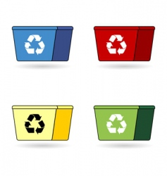recycling trash boxes vector image vector image
