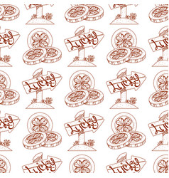 Seamless pattern coins with the image of clover vector