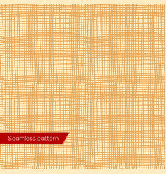 Seamless texture of yellow canvas vector