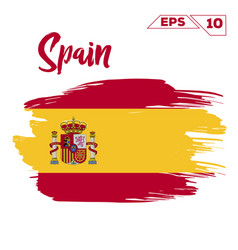 Spain flag brush strokes painted vector