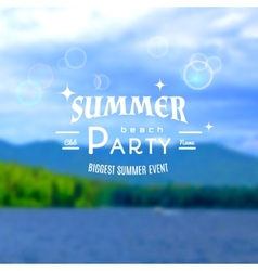 Summer party realistic badge eps10 vector