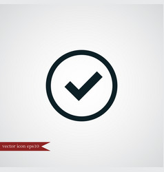 tick icon simple vector image