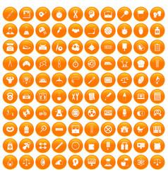 100 libra icons set orange vector