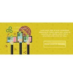 Responsive web design banner vector
