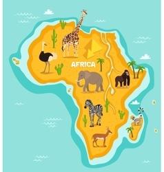 African animals wildlife vector