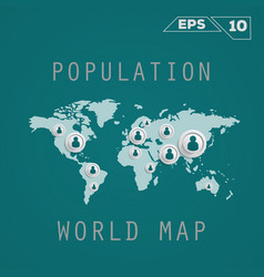 Population map vector