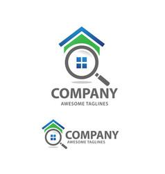 house search logo vector image