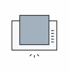 extractor hood icon vector image