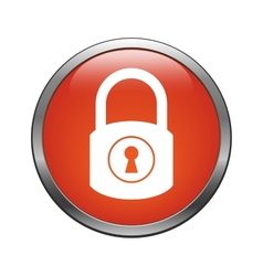 Lock icon vector image