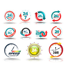 24 hours open customer service collection vector