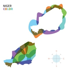 Abstract color map of niger vector