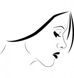 Sensitive woman vector