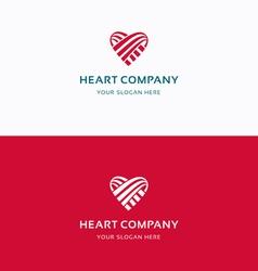 Heart company logo vector