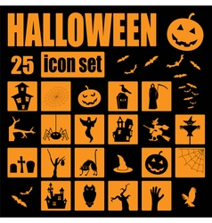 Halloween icon set holiday design vector