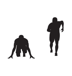 Black silhouette of runner vector