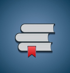 Icon stack of books vector