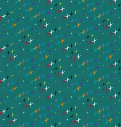 Pattern of colored stars vector image