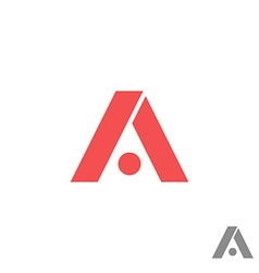 Logo a letter red geometric shape creative app vector