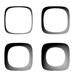 Set of lines textured frames vector