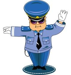 Traffic cop vector