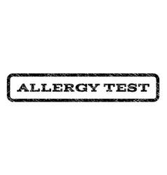 Allergy test watermark stamp vector