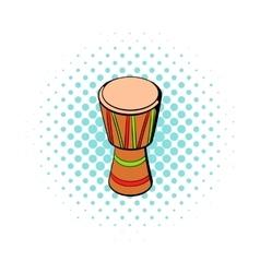 Australian ethnic drum icon comics style vector image