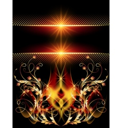 Background with star and golden ornament vector image