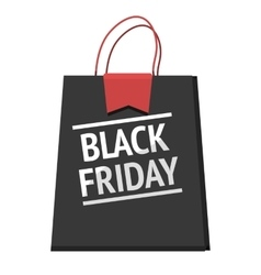 Black friday bag modern design badge sales vector