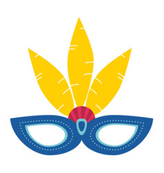 Carnival mask with string icon image vector