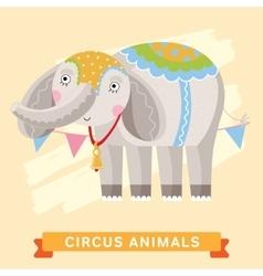 Circus Elephant animal series vector image