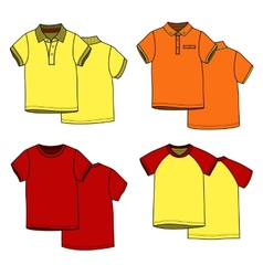 Color t-shirts vector image vector image