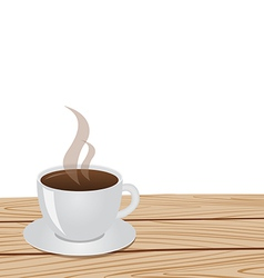 cup of coffee table white 01 vector image